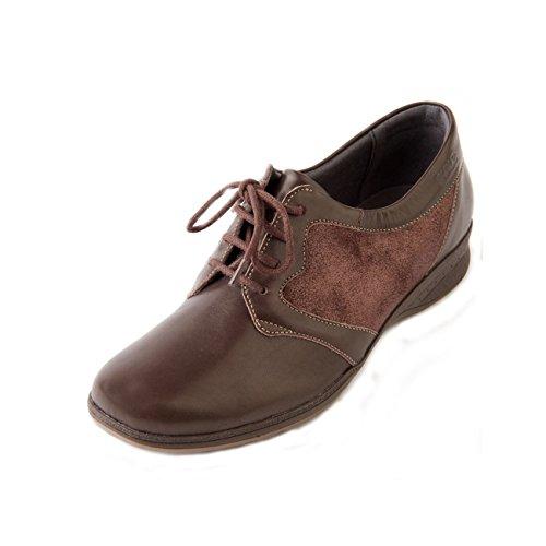 Brown Bryony Zapatos Cordones Sparkle De Para Mujer Piel Suave HP0wdH