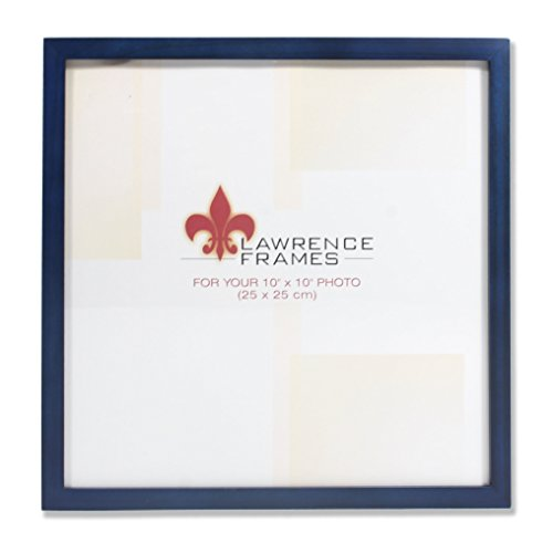 Lawrence Frames 755710 Blue Wood Picture Frame, 10 by 10-Inch by Lawrence Frames