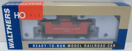 UPC 616374023226, Walthers HO 932-7521 25' Wood Caboose, C&O Progress (Red) #90776