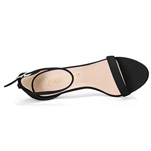 Ankle Black Stiletto K Women Allegra High Heels Sandals Strap 87XaxA1