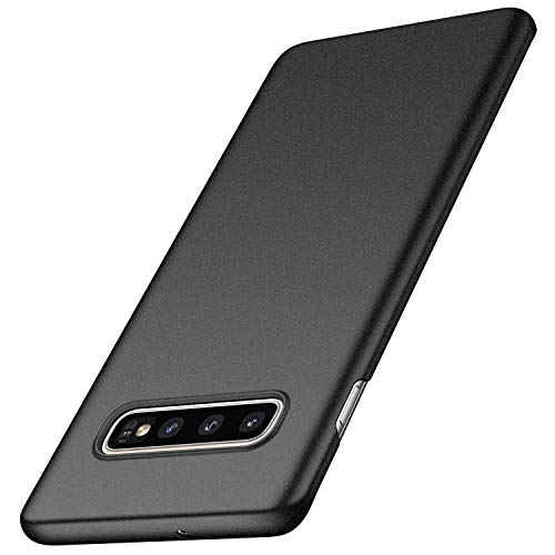 anccer Compatible for Samsung Galaxy S10 Plus Case [Colorful Series] [Ultra Thin Fit] Hard Slim Cover for Samsung Galaxy S10+ (Gravel Black)