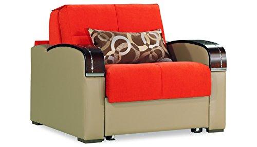 Casamode Sleep Plus Chair Sleeper Orange Chenille
