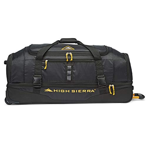 High Sierra Pathway 36-Inch Wheeled Drop-Bottom Duffel - Extra-large Rolling Duffel Bag with Wheels - Men's Wheeled Duffel Bag with Retractable Handle