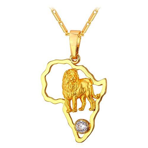 U7 Africa Pendant Plated Necklace