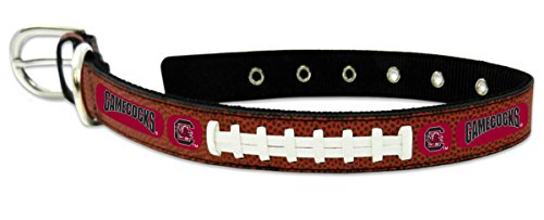 NCAA South Carolina Fighting Gamecocks Classic Leather Football Collar, Large