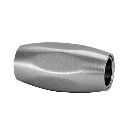 1PC Stainless Steel Silver Frosting Barrel Magnetic Clasp with Locking Mechanism 20mmx9mm