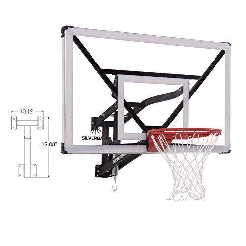 Silverback NXT 54' Wall Mounted Adjustable-Height Basketball Hoop with QuickPlay Design, Black
