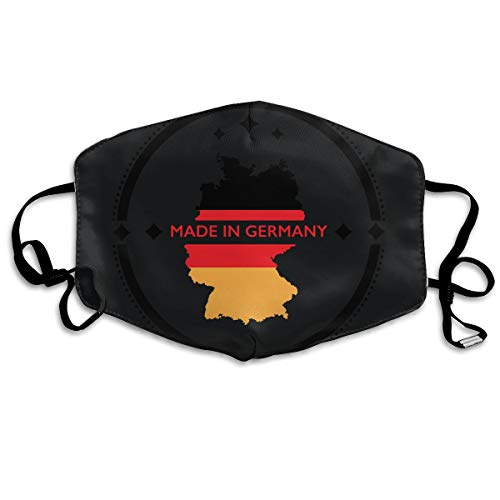 SDQQ6 Made in Germany Country Map Flag Mouth Mask Unisex Printed Fashion Face Mask Anti-dust -
