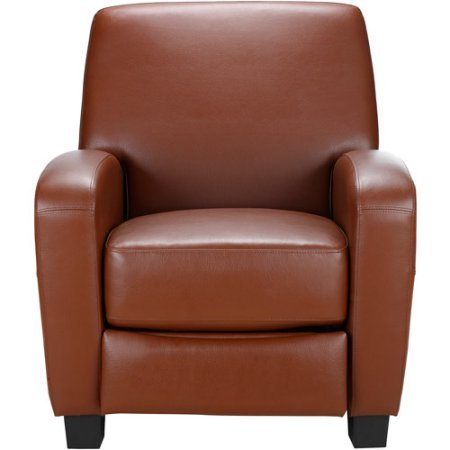Faux leather and Steel mechanism Home Theater Push-back Recliner, Camel