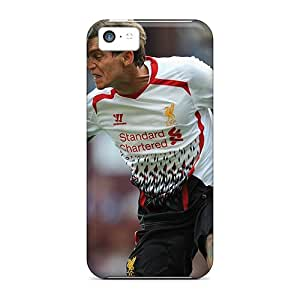 Defender Case With Nice Appearance (the Player Of Liverpool Daniel Agger Is Hitting A Ball) For Iphone 5c