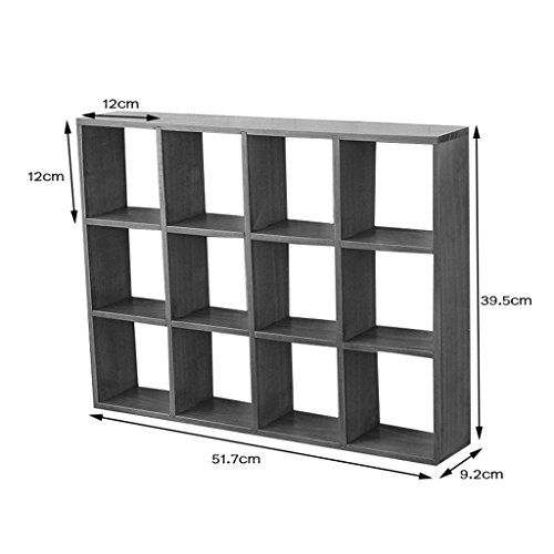 LS- Furniture Decoration Decorative Floating Frame Wooden Wall Decoration Creative Lattice Storage Rack Multi-Purpose Wall Hanging Background Wall Decoration /& (Color : B)