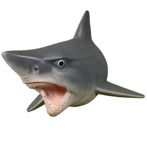 Wall Mounted Great White Shark W Teeth Head Mount Hanging