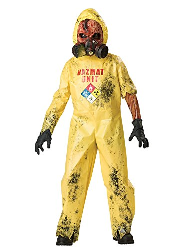 Scary Costumes - InCharacter Costumes, LLC Boys 8-20 Hazmat Hazard Jumpsuit, Yellow, Medium