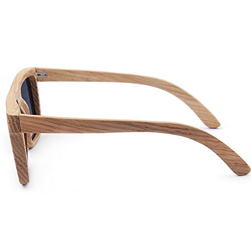 los de Protección de alta hecho retro UV Gafas Lente gris de de mano la de de cebra madera polarizado TAC a sol la Gafas pla la de cuadradas de sol hombres de de madera calidad sol la conducción Gafas RqqfHYxnwP