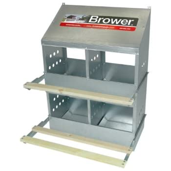 Amazon Com Brower 404b Poultry 4 Hole Nest Chicken
