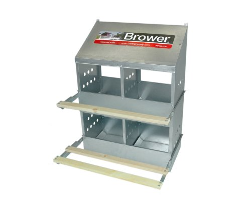 Brower 404B Poultry 4-Hole Nest - 4 Poultry