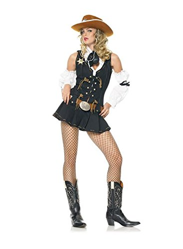 Wild West Sheriff Costume - X-Large - Dress Size 14-16 (Wild West Fancy Dress)