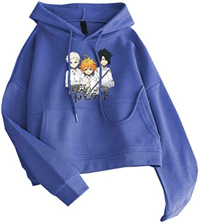 The Promised Neverland Pullover Activa Casual Sudadera Mujer Slim Fit Pullover Fashion Coats Classic Abrigos Hipster Cuerpo Sudaderas Vintage Outumn Outwear Unisex