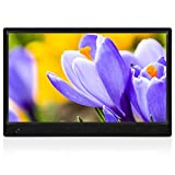 14 Inch Full HD Digital Photo Frame 1920x1080 High Resolution IPS Screen, Support 720P Video, with 180° Viewing Angle, Motion Sensor, Auto-Rotate, and Display Photos with Background Music