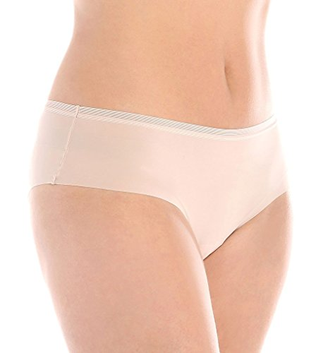 OnGossamer Women's Beautifully Basic Clean Cut Hipster Panty, Champagne, Large