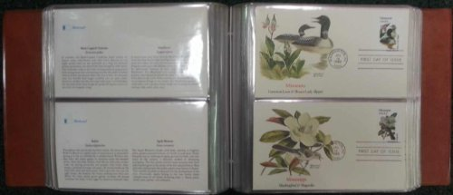 The Birds & Flowers of the 50 States Official Fleetwood Cachet First Day Cover Collection with Album