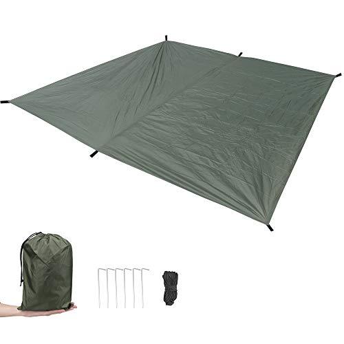 MAGARROW 9.5x9.5ft Waterproof Lightweight Camping Tent Tarp Canopy Shelter Footprint Ground Sheet Beach Mat (Army Green)