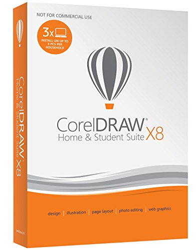 Software : CorelDRAW Home & Student Suite X8 for PC (Old Version)