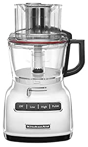 KitchenAid KFP0933WH 9-Cup Food Processor with Exact Slice System - White