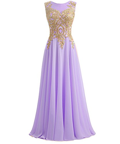 lilac and gold dress - 4