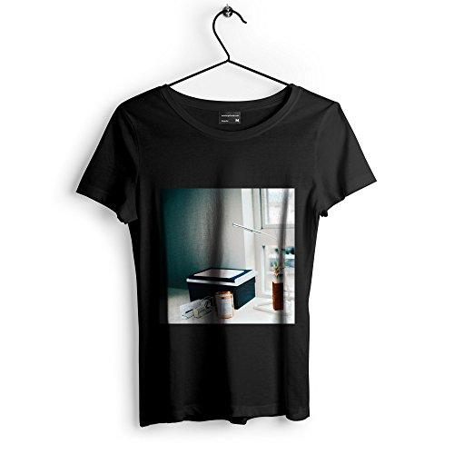 Westlake Art Desk Workspace - Unisex Tshirt - Picture Photography Artwork Shirt - Black Adult Medium (None-DA563)