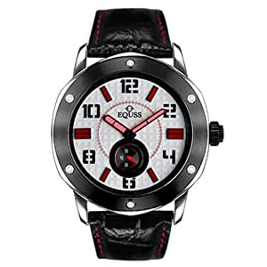 Equss Master Hour Collection Men's White Dial Leather Band Watch - EQS6090044TWXRD