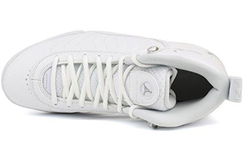 Jordan Nike Männer Jumpman Pro Basketballschuh Weiß / Reines Platin-Metallic-Silber