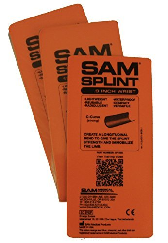 (SAM Splint 3X Combo Pack Orange/Blue Flat by Rescue Essentials by SAM Medical)