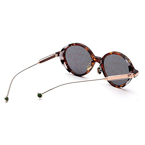 conduite de Print pour soleil la Color soleil de Bright en Lens Lady les Rimmed lunettes soleil Classique soleil de femmes lunettes pour de Lunettes de plastique Délicat couleur Frame Vert Placage lunettes EYx7wq1t1