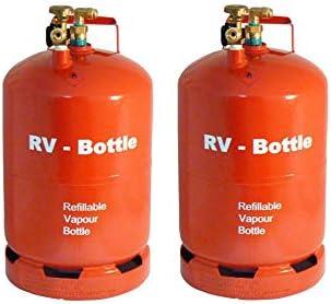 Juego Completo de 2 Botellas de Gas Ligeras de Color Rojo ...