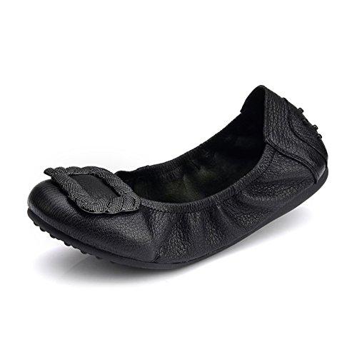 Zapatos de suave rollo de huevo/Zapatos cómodos/Zapatos de mamá/Zapatos de conducción de fondo plano E