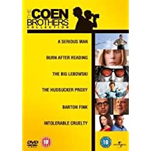 Coen Brothers Complete Essential Movie Collection (6 Discs) DVD Film Box Set: A Serious Man / Burn After Reading / The Big Lebowski / Hudsucker Proxy / Barton Fink / Intolerable Cruelty + Extras