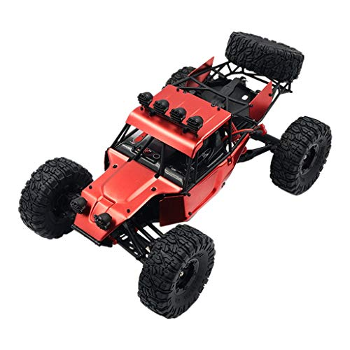 1:12 Large Scale 2.4G 4WD High Speed Off-Road Vehicle Rock Crawler RC Car,Binory Electric Remote Control Truck Suit for All Terrain,Rechargeable & Splash Waterproof,Birthday Gift for Kids ()