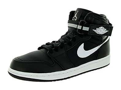Amazon.com | Jordan Nike Men's Air 1 High Strap Black/Dark