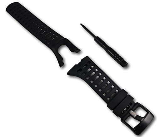 ment Strap for Suunto Ambit 3 Peak and Ambit 2 - Premium Waterproof Watch Band 24mm - Screwdriver Included (Black Spyder Edition) ()