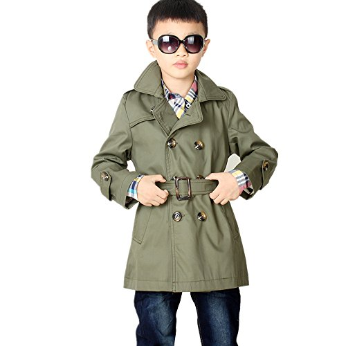 Detective Trench Coat Costume (LJYH Big Toddler Boys' Classic Peacoat Hooded Toggle Coat)