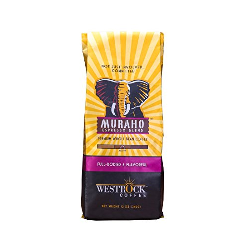 Westrock Coffee Muraho Espresso Coffee Blend Whole Bean Coffee 12 (Lavender Coffee Pot)