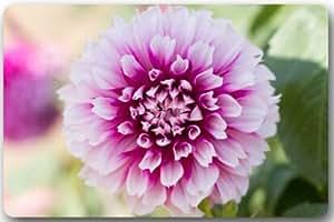 """Fashionable Design Dahlia floral Doormat,Indoor/Outdoor /Shower/Bathroom Doormat Welcome Doormat Floor Mat 23.6""""(L) x 15.7""""(W)"""