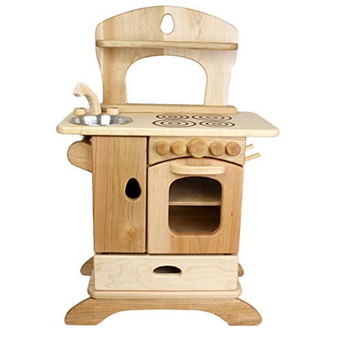 Camden Rose Country Cottage Kitchen, Maple Wood Play Kitchen (Wooden Kitchen Cottage)