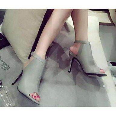 Zormey Zapatos CN39 US8 UK6 Primavera Pu Club Casual Gris EU39 Tacones Mujer Negro Azul rxFfrT
