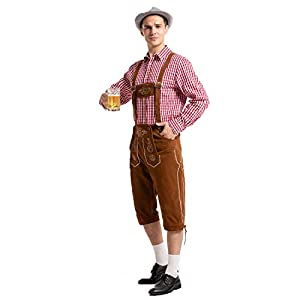 Ustay Mens Trachten Lederhosen 100% Authentic German Oktoberfest Costume