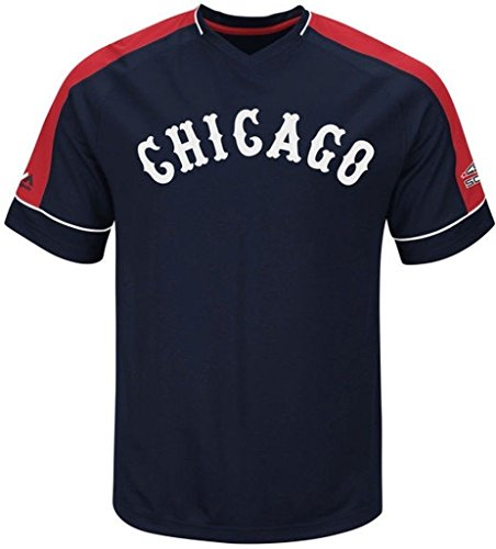 VF Chicago White Sox MLB Mens Majestic Cooperstown Vintage Hit Jersey Navy Blue Big & Tall Sizes (3XL) (Majestic Collection Jersey Cooperstown)