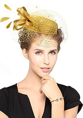 Z&X Sinamay Fascinator Pillbox Hat Hair Clip Cocktail Wedding Derby Headdress