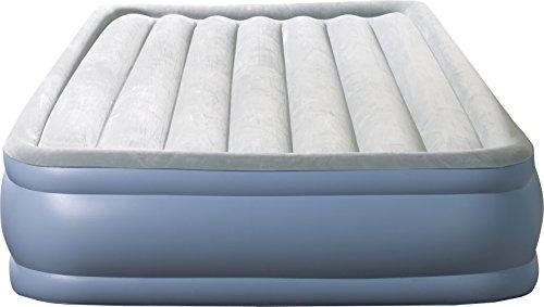 Simmons Beautyrest Hi-Loft Inflatable Air Mattress: Raised-Profile Air Bed with External Pump, -