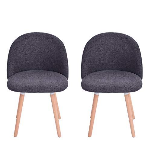 Amazon.com: GXOK 2 sillas de comedor de terciopelo ...